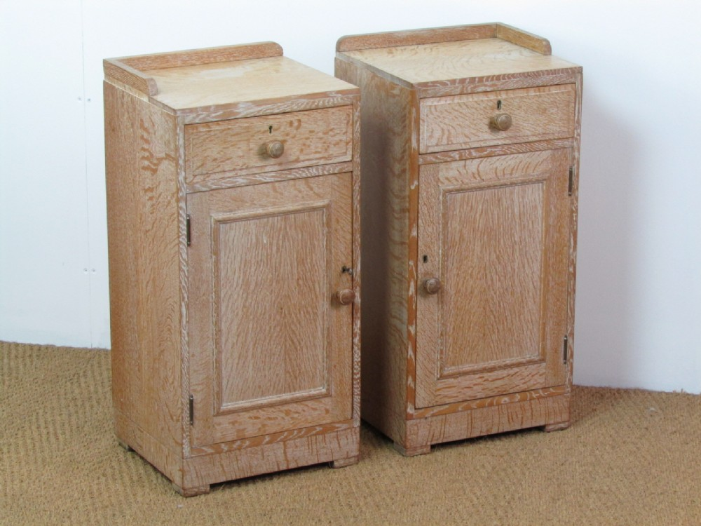 Pair Of Healu0027s Limed Oak Bedside Cabinets
