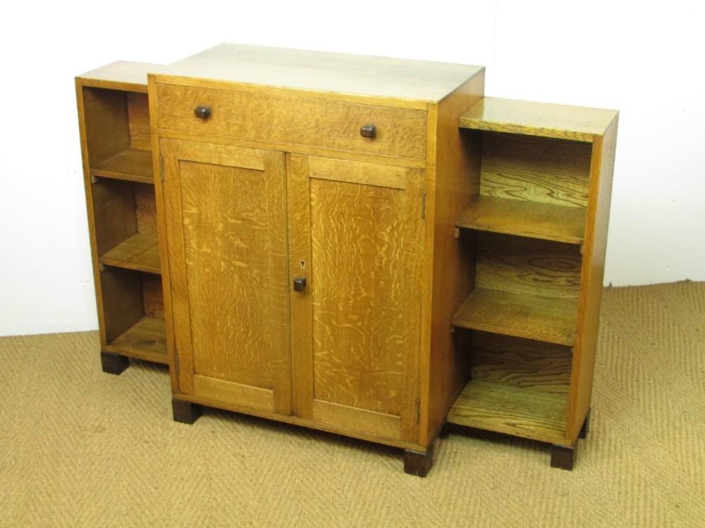 Heal's Oak Side Cabinet Bookcase Sideboard 431810 Sellingantiques co uk