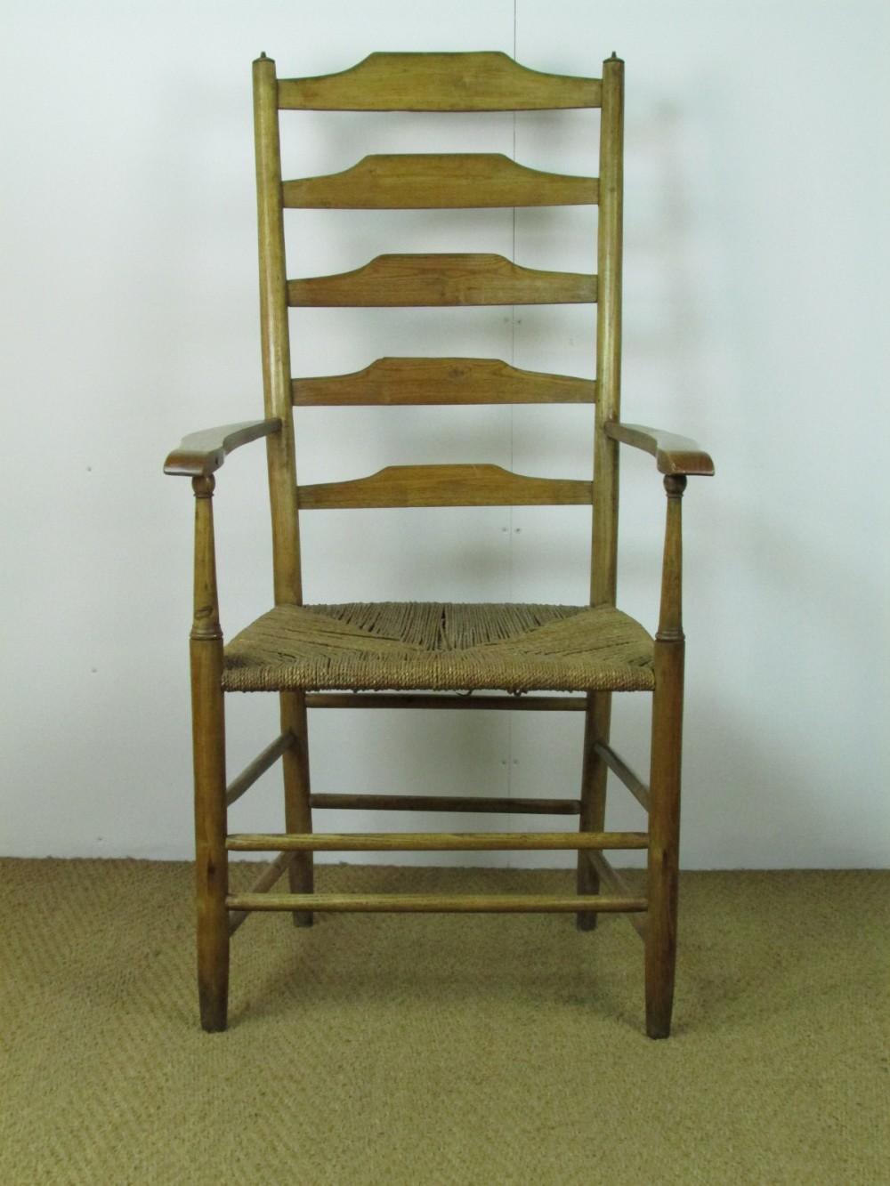 arts crafts ash clissett highback armchair