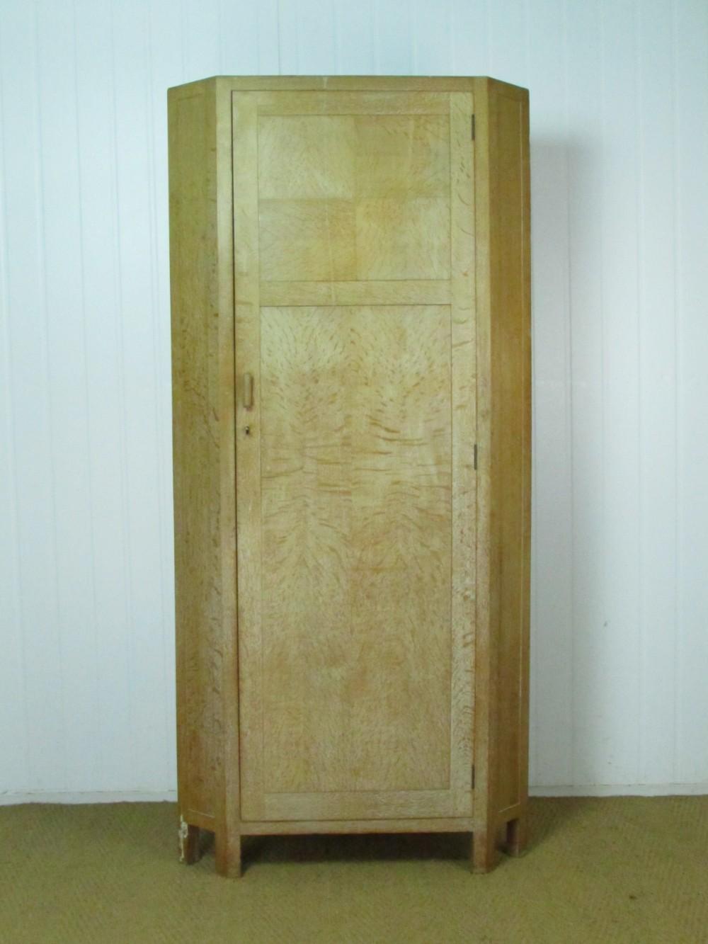 heal's limed oak corner cupboard