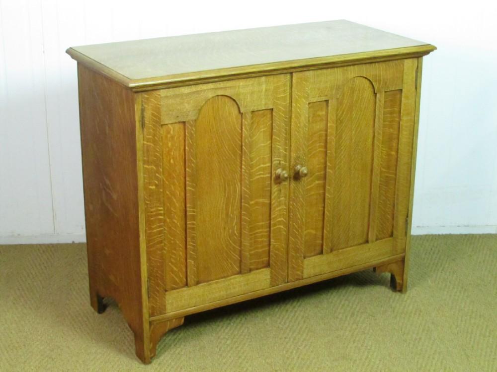 heal's arts crafts oak cupboard