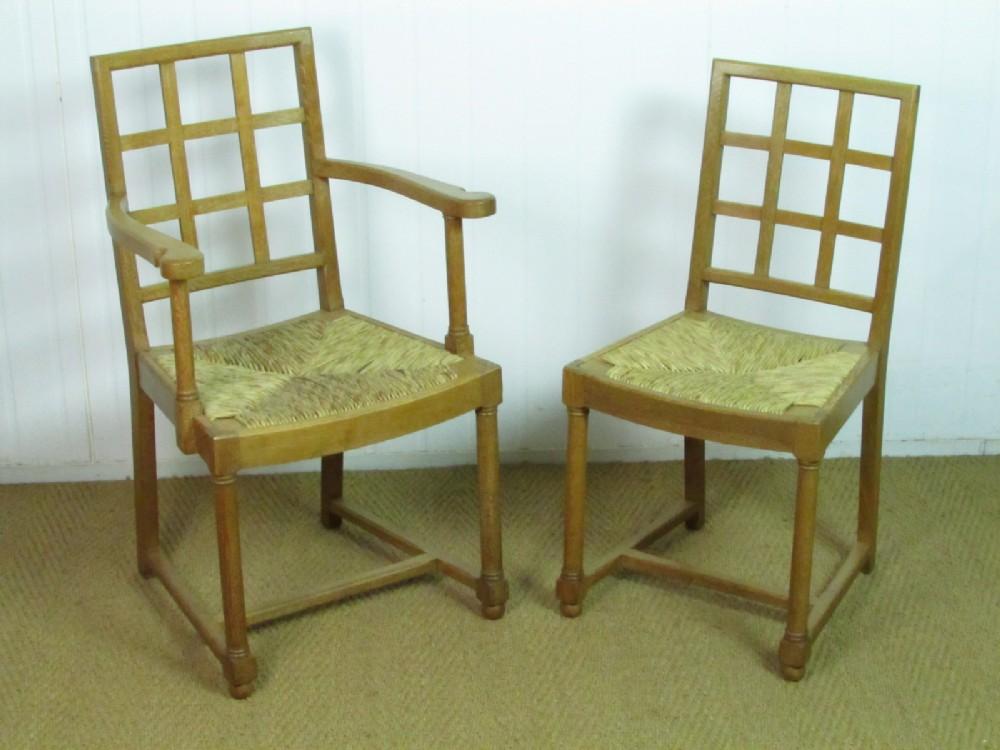 a set of 6 heal's limed oak tilden dining chairs