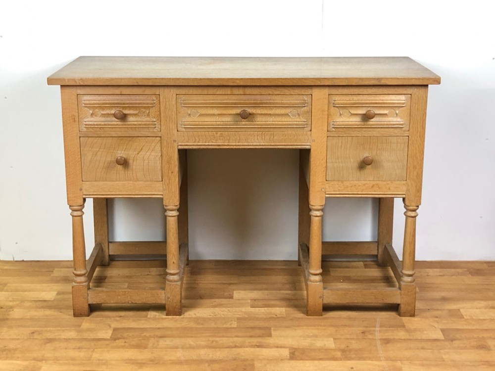heal's limed oak side occasional writing table