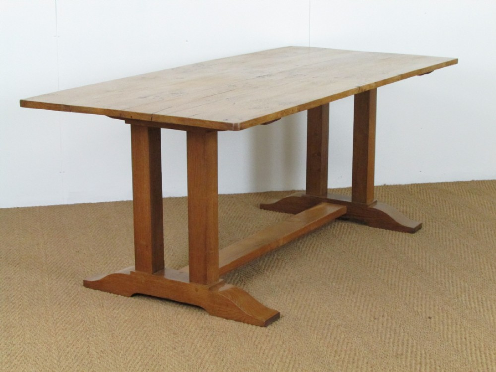 Heal 39 s pippy oak refectory dining table 293058 - Heals dining table ...