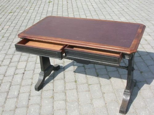 antique walnut library writing desk