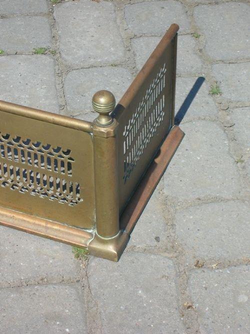 Antique Fire Fenders : Antique regency brass fire fender