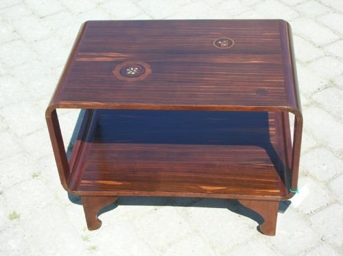 antique signed majorelle art deco rosewood low small coffee side lamp occasional table c1920