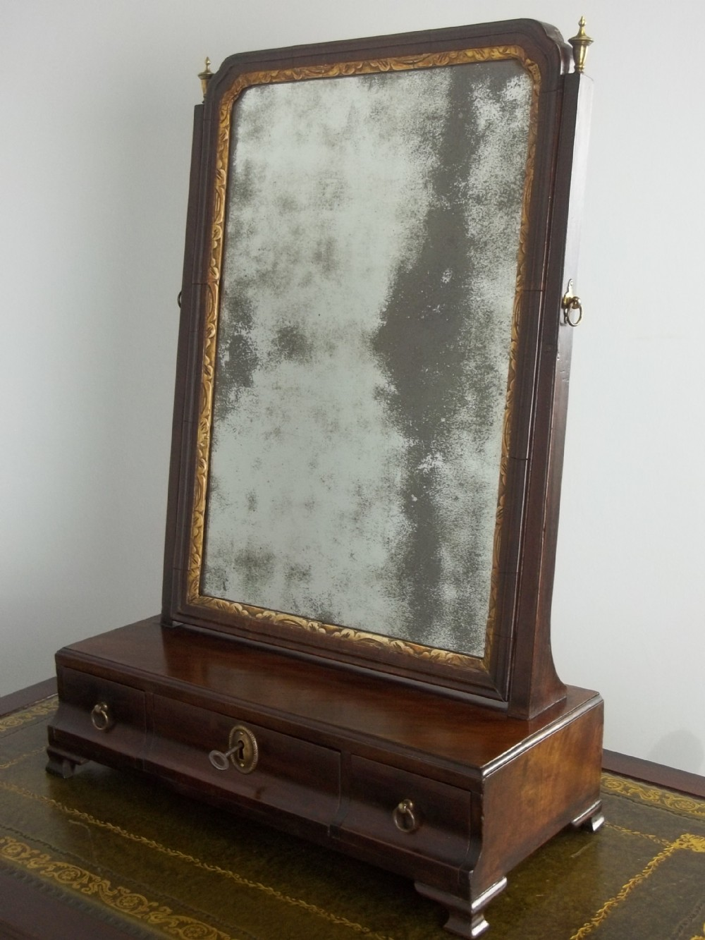 a george ii walnut 18th century georgian red walnut or mahogany dressing table toilet mirror c1750