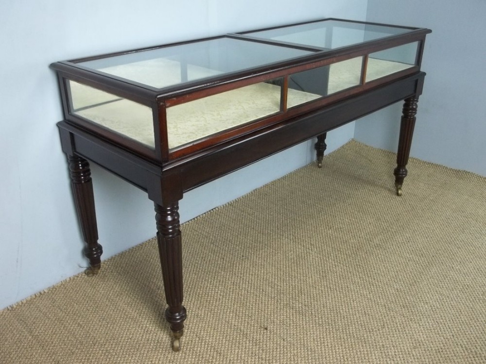 a large regency georgian mahogany gillows design bijouterie display jewellery collectors table cabinet c1820