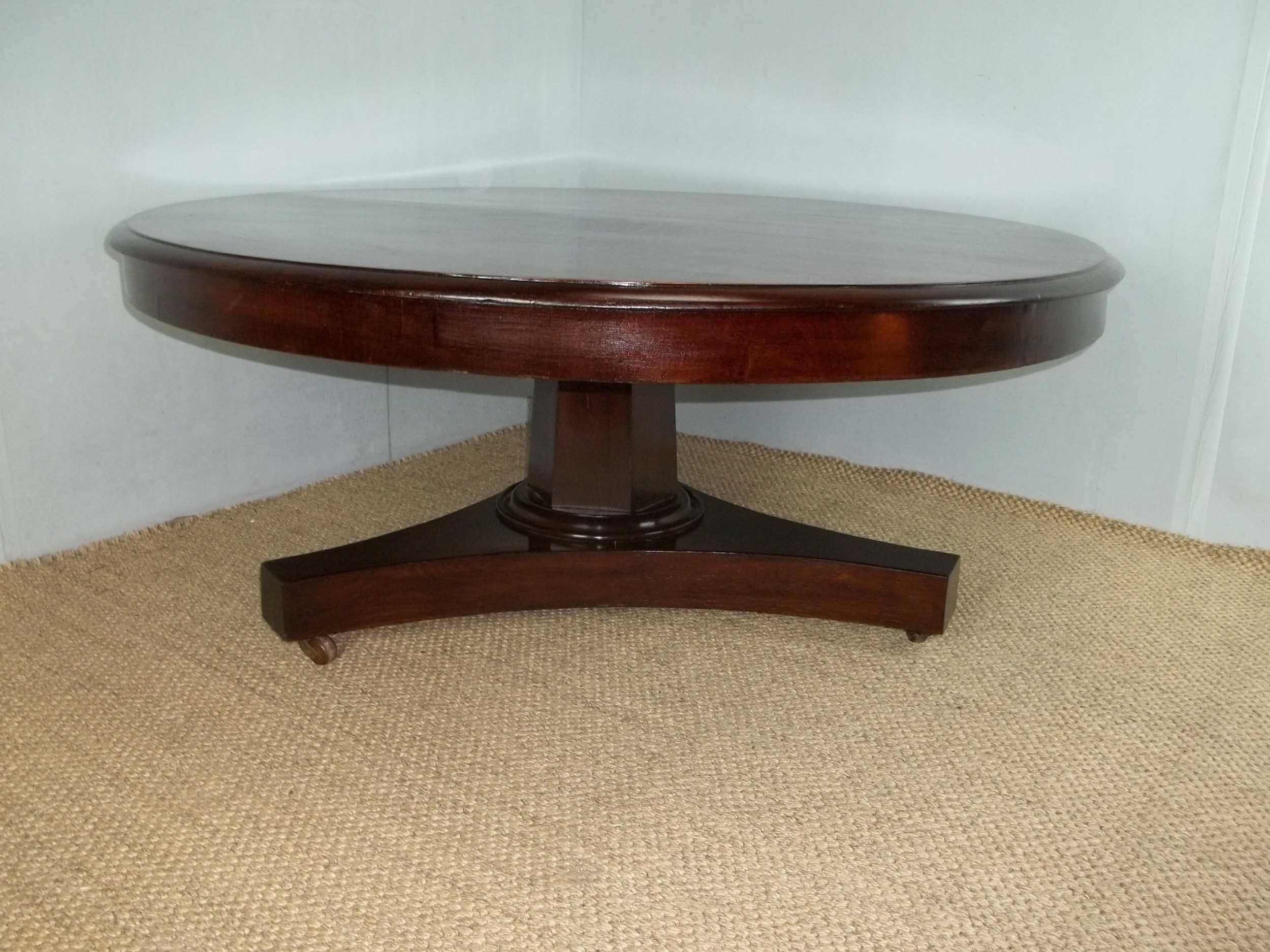 antique 19th century circular round coffee table c1860