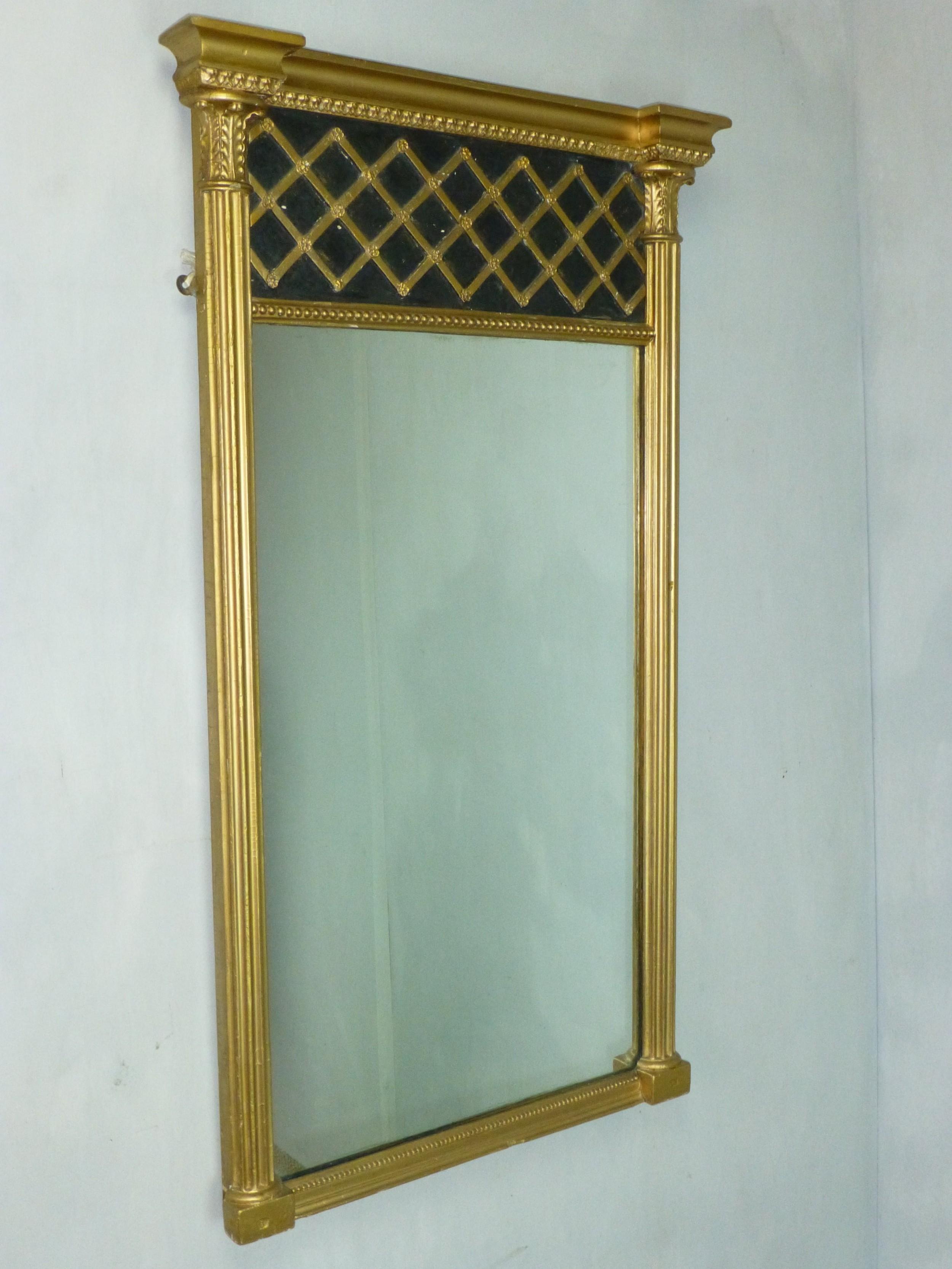 antique gilded georgian regency giltwood pier console looking glass gilt wood mirror