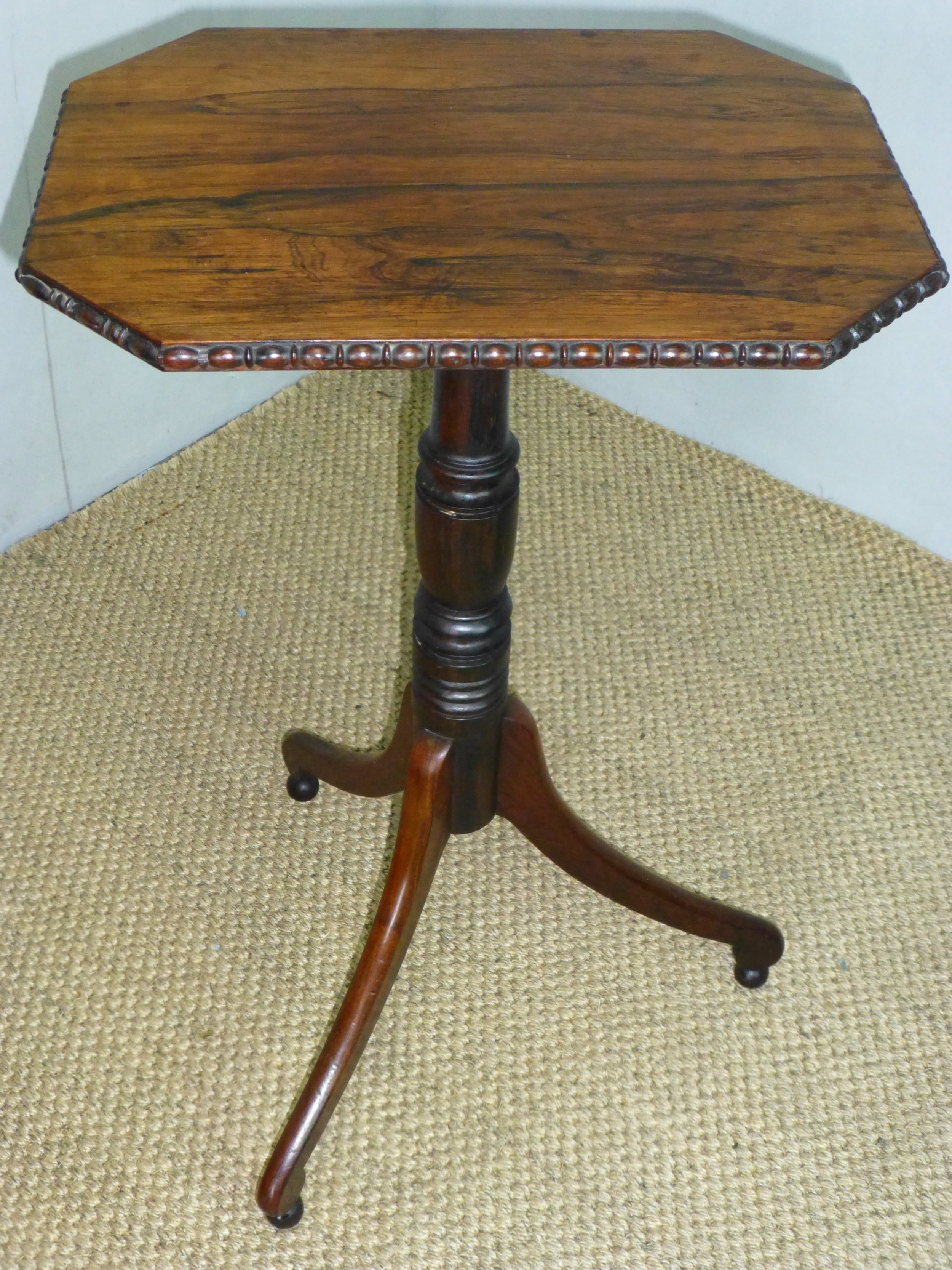 regency gillows rosewood occasional wine lamp side table c 1820