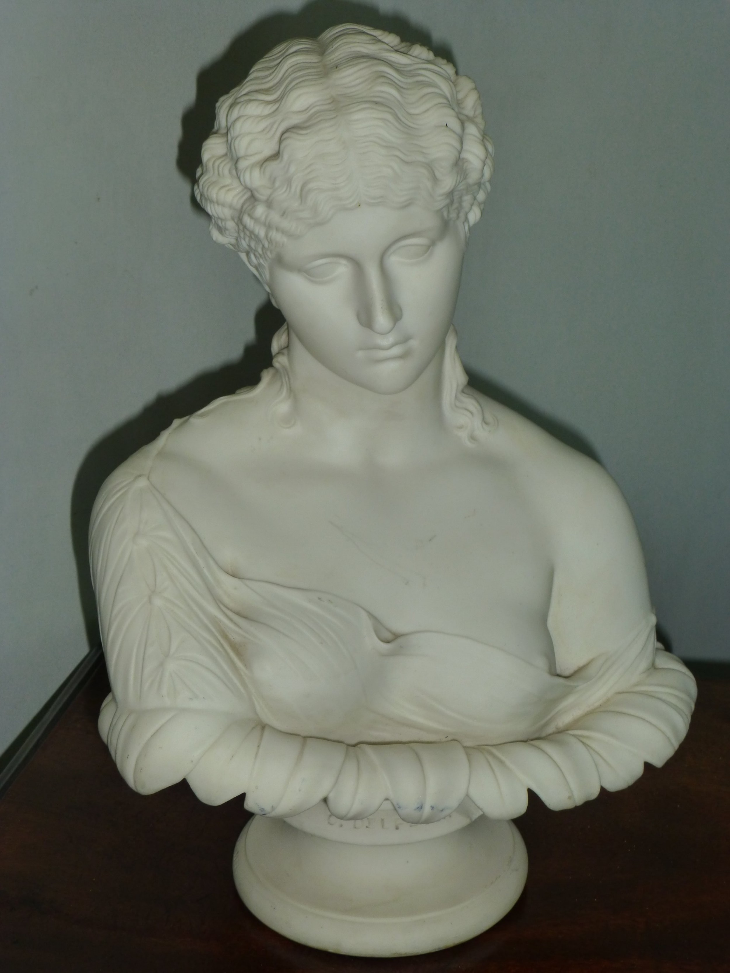 19th century copeland parian bust after c delpech of clytie the water nymph