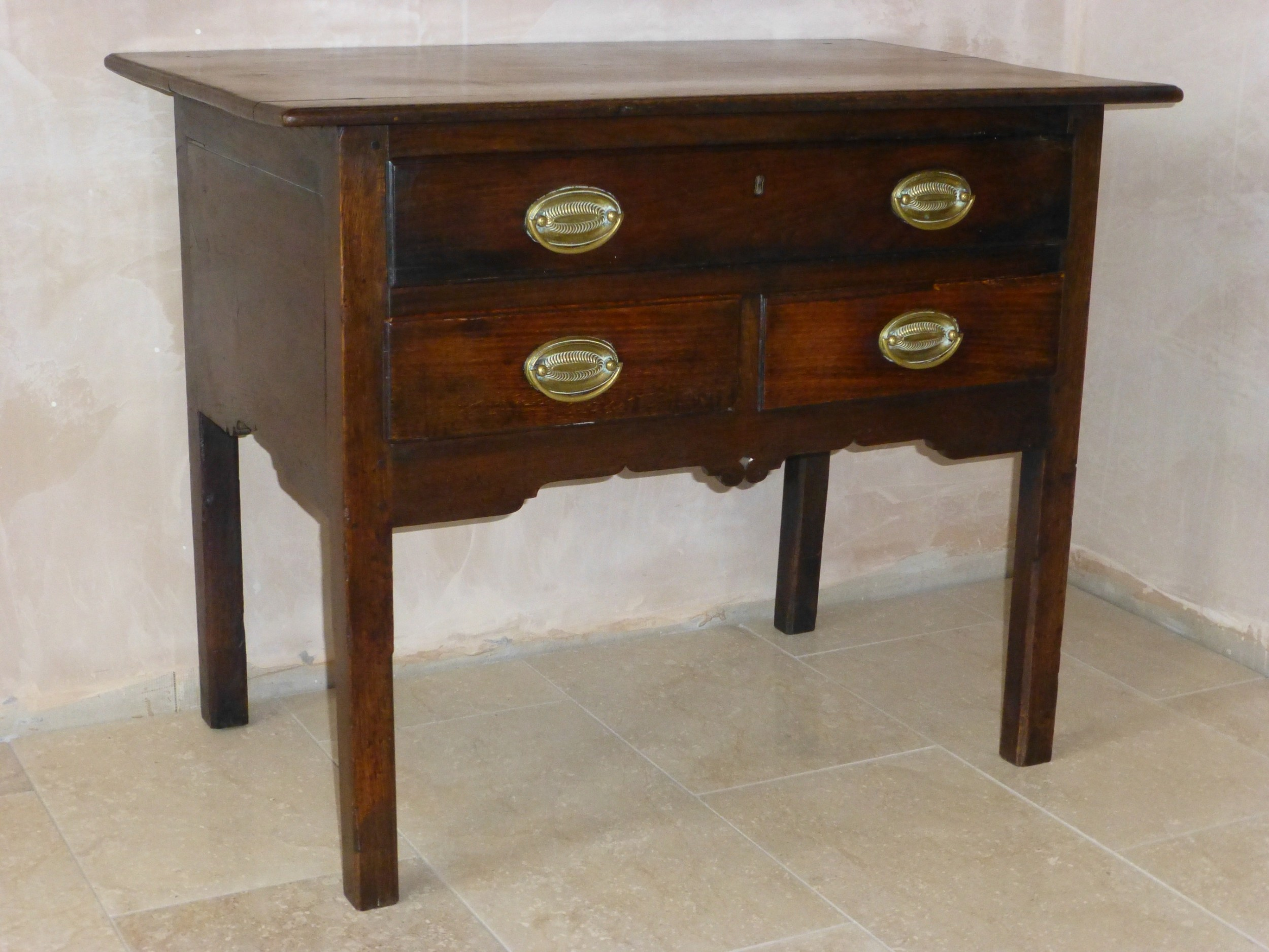 18th century welsh oak george iii lowboy dressing table