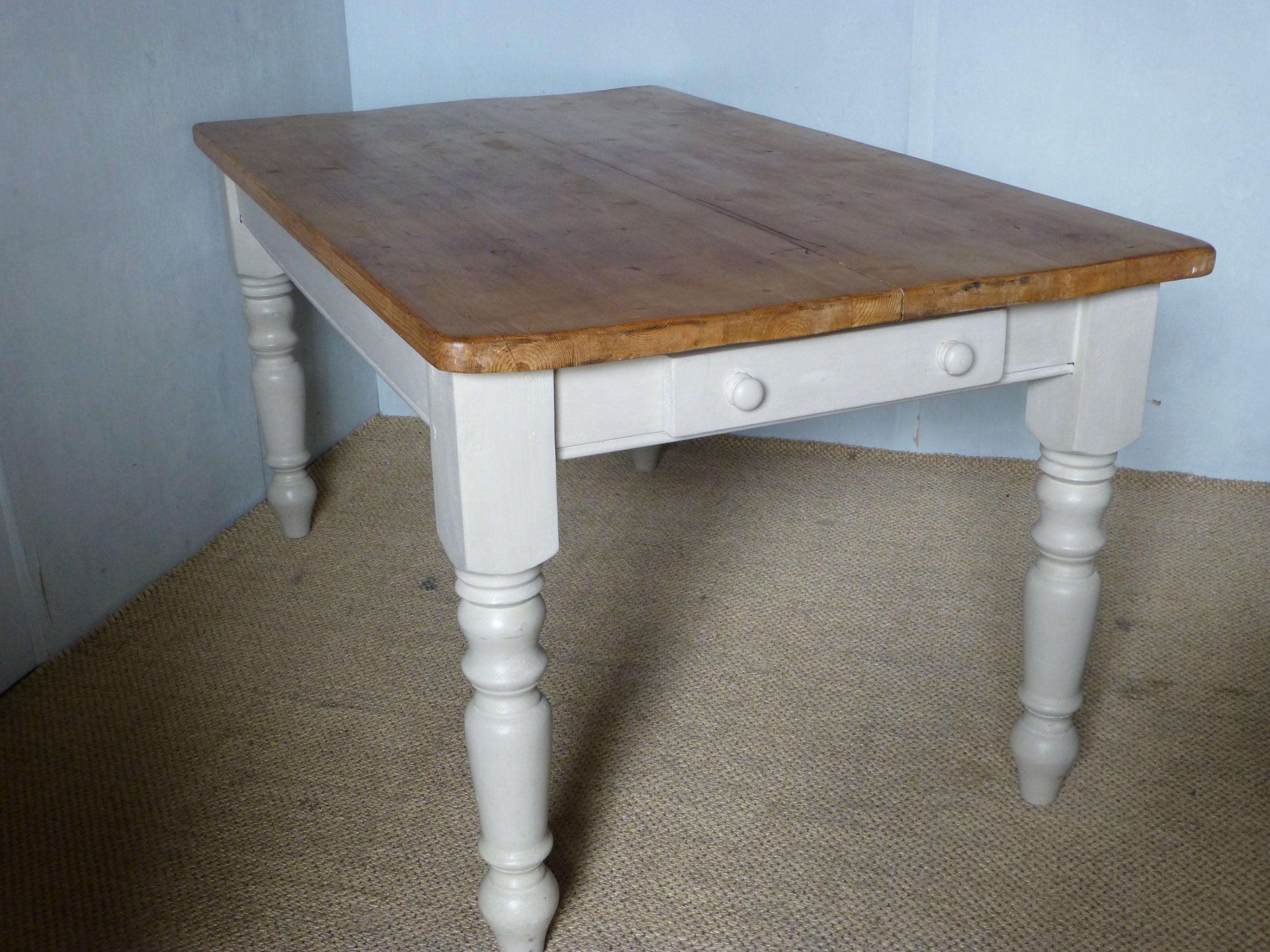 pine scrub top farmhouse kitchen table