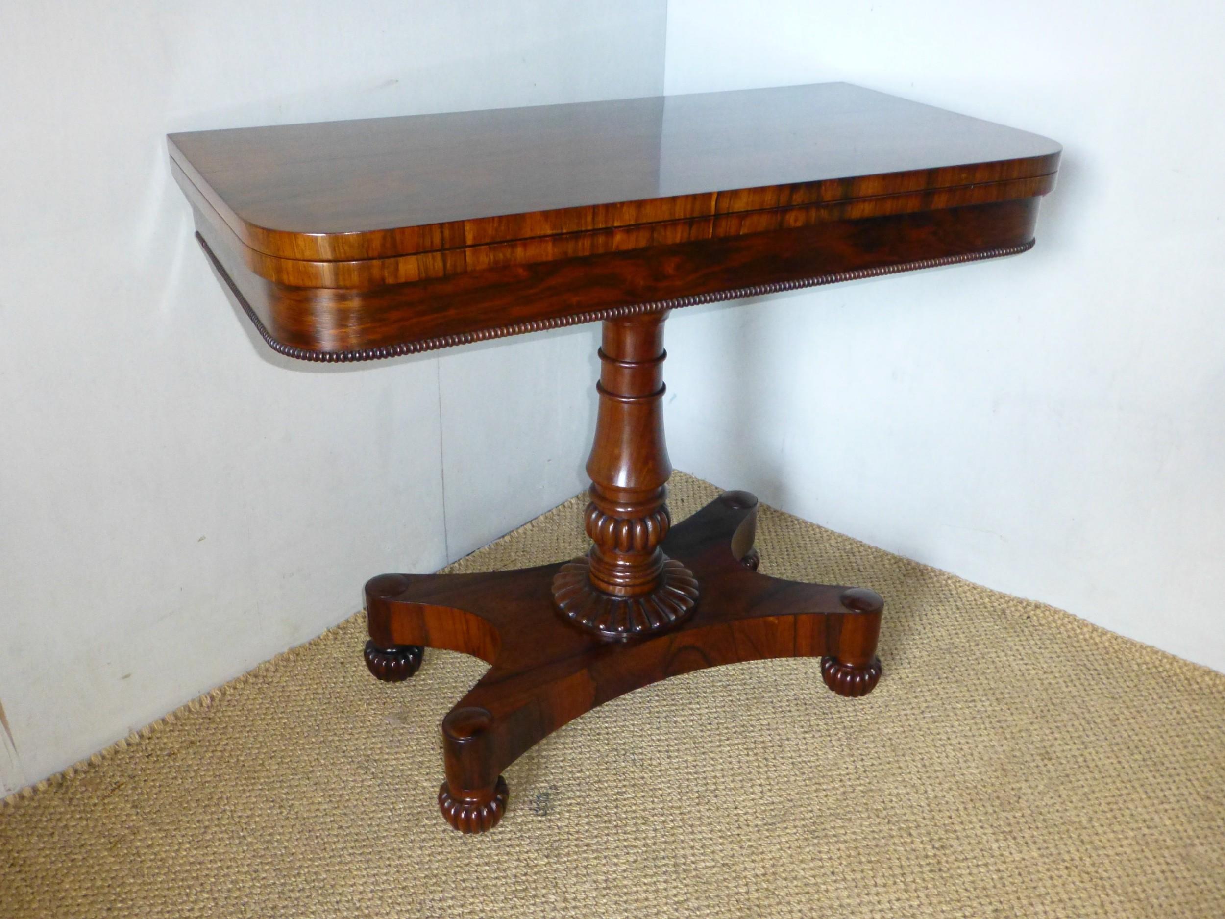 gillows georgian rosewood card table