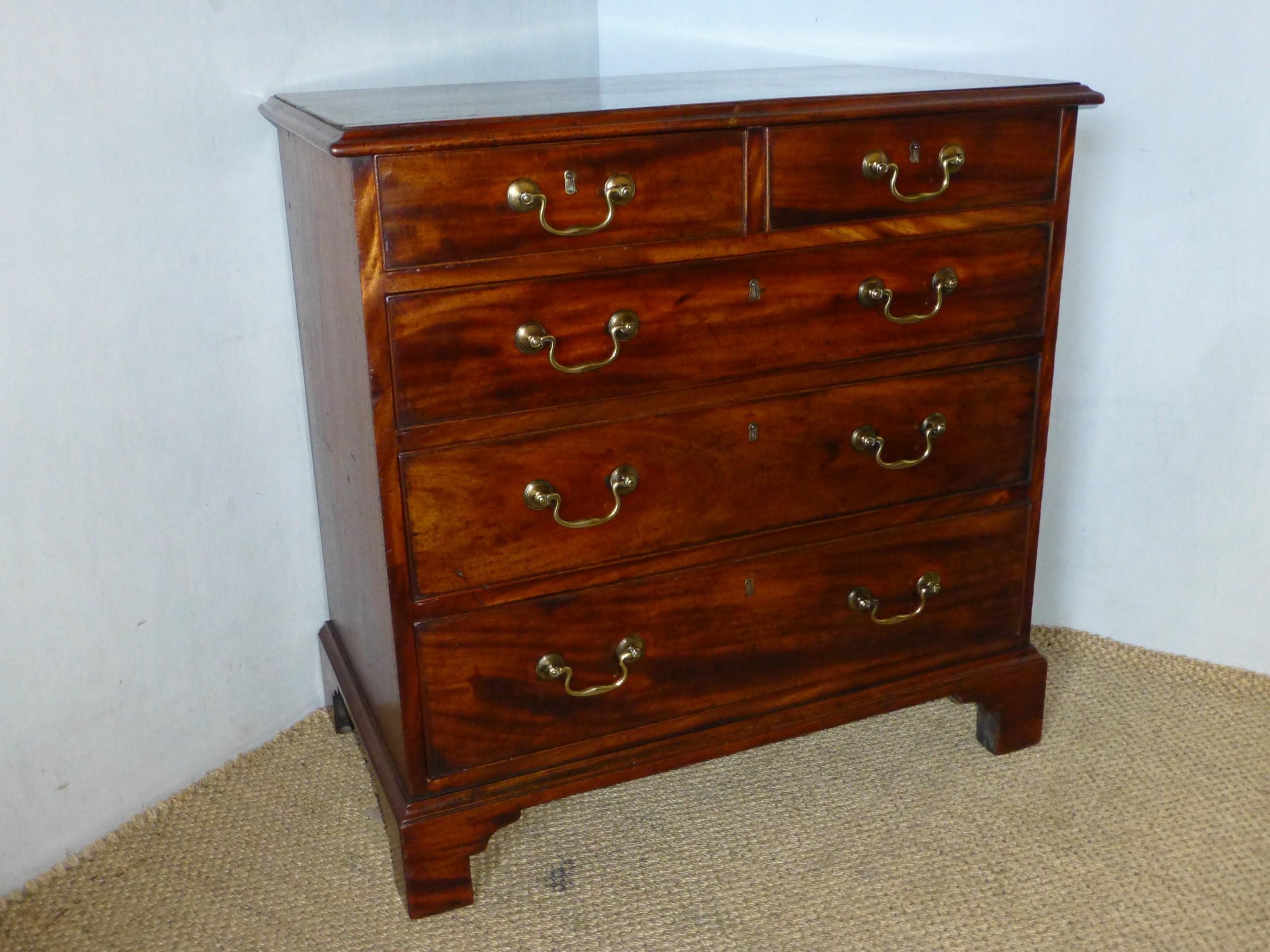 18th century georgian mahogany small 30 bachelors chest of drawers