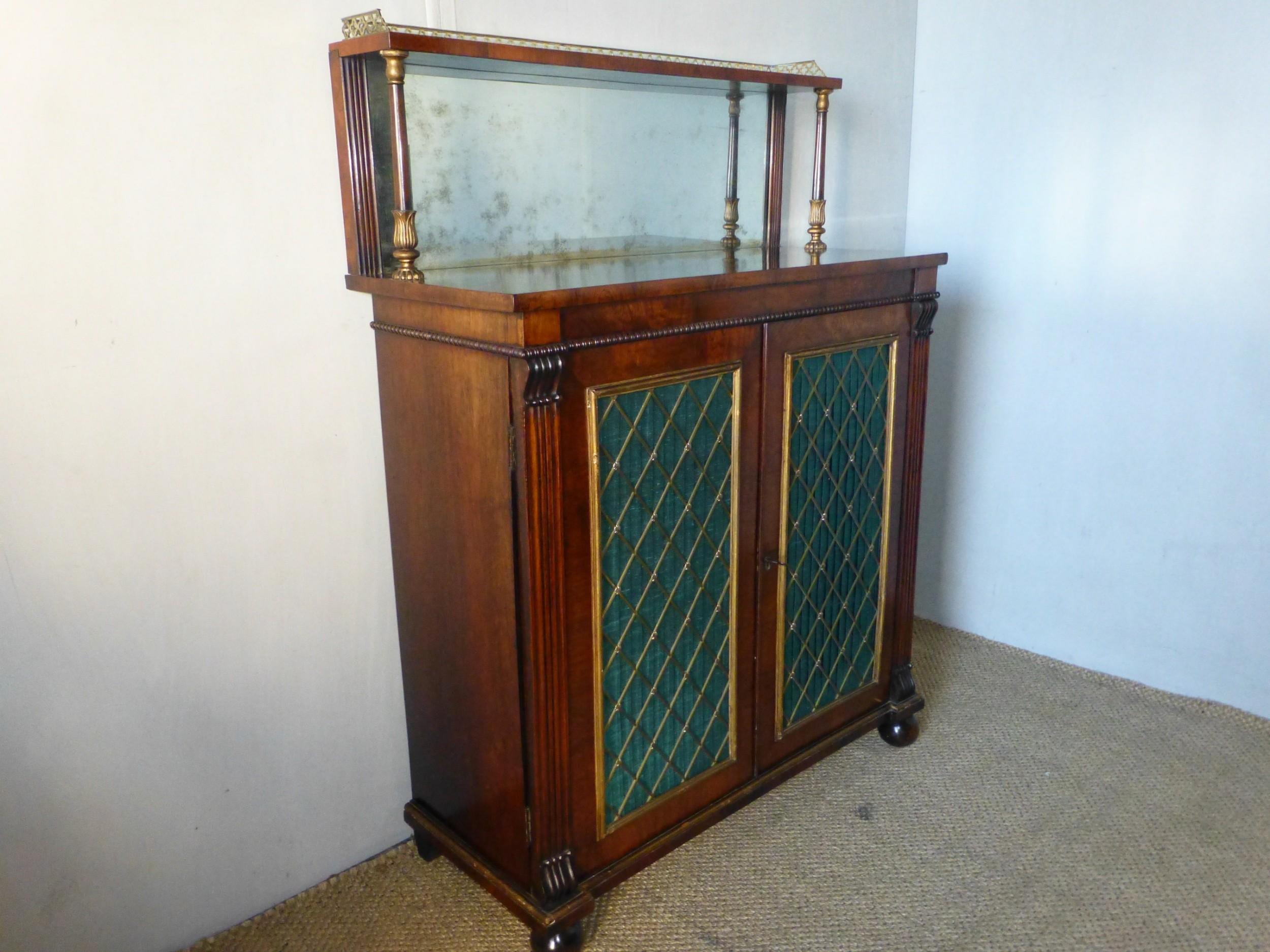 regency gillows rosewood chiffonier sideboard c1825