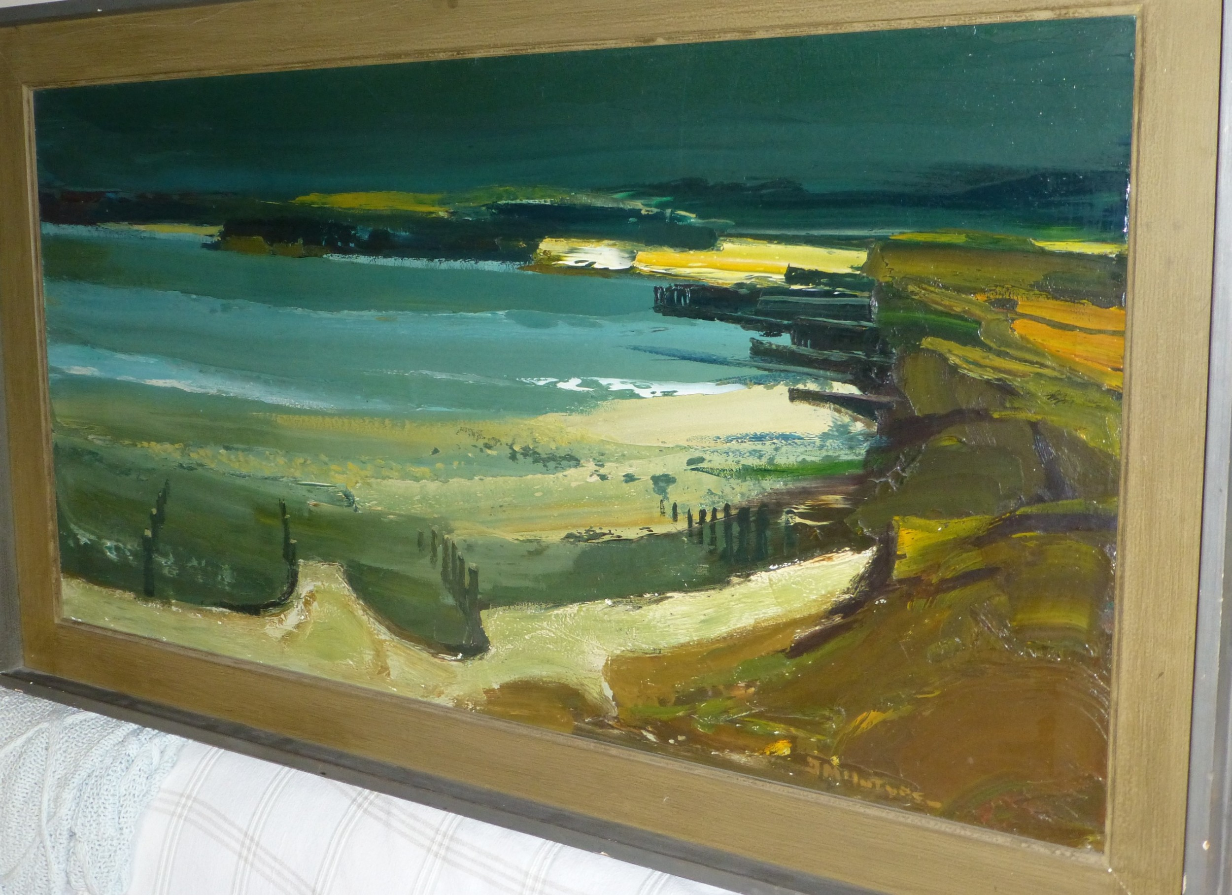 fabulous large oil painting by donald mcintyre