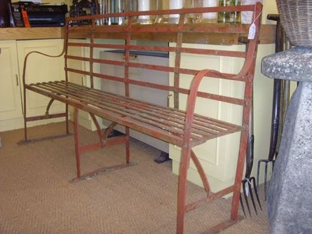 iron garden bench