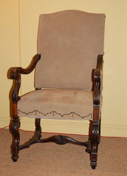 french walnutframe chair