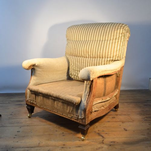 French Upholstered Armchair, Reupholstery Incl | 339466 ...