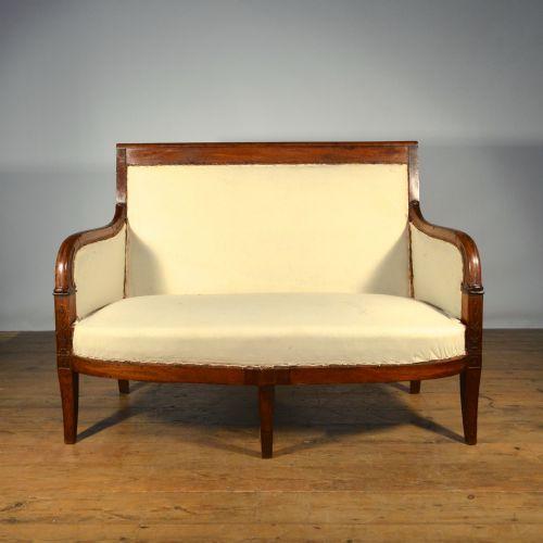 Antique Sofa Reupholstery Cost: Mahogany French Empire Sofa Inc Full Reupholstery