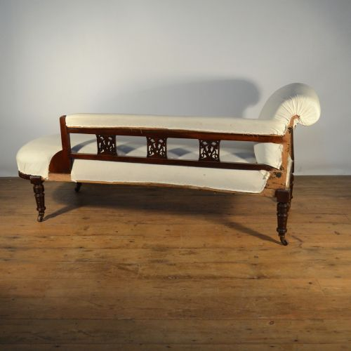 Antique Sofa Reupholstery Cost: Edwardian Chaise Lounge, Inc Full Reupholstery
