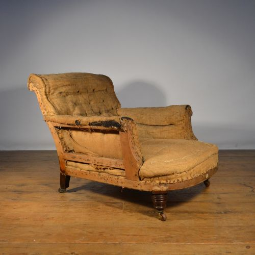 Antique Sofa Reupholstery Cost: English Armchair - Inc Full Reupholstery