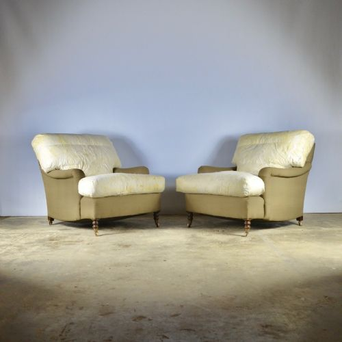 pair of george smith signature armchairs