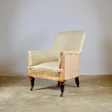 19th century english library chair