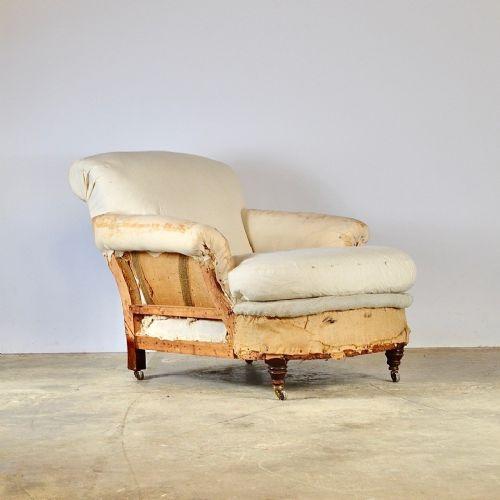 deep seated english armchair