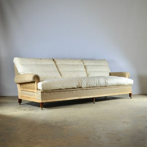 deep seated long english sofa