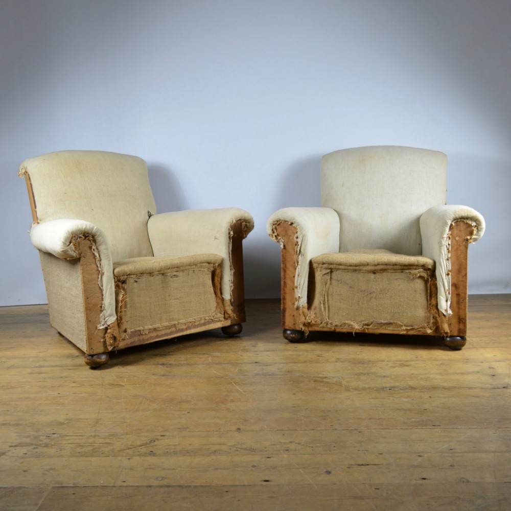pair of 1930s english armchairs inc full reupholstery