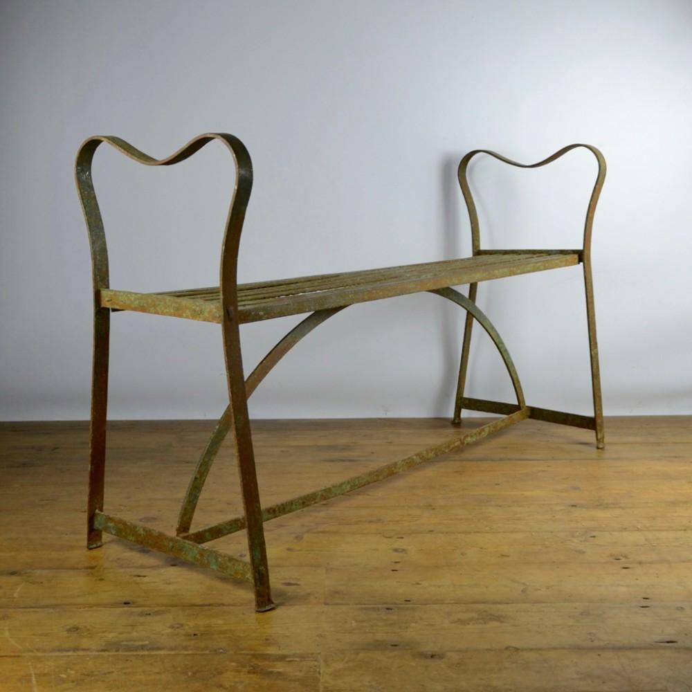 Strapwork Metal Garden Seat / Stool | 422531 | Sellingantiques.co.uk
