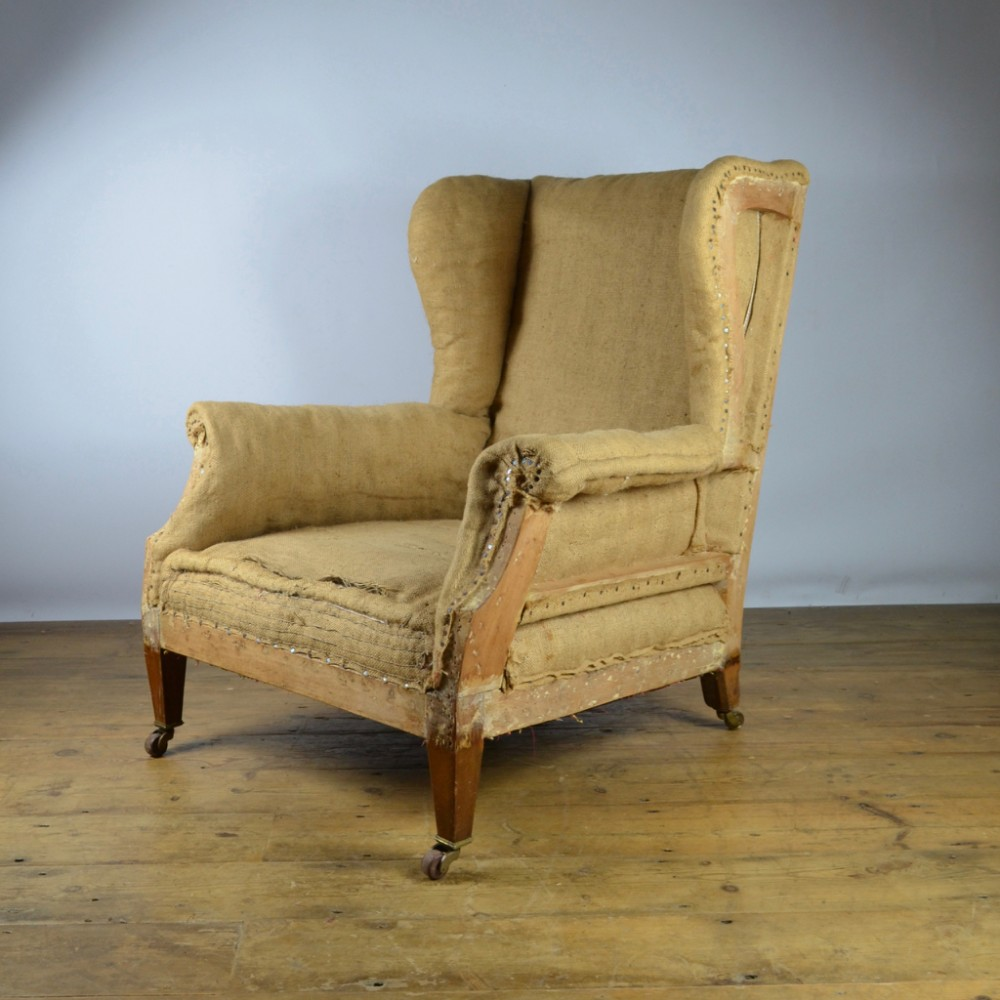 Edwardian English Wing Chair Reupholstery Inc C273