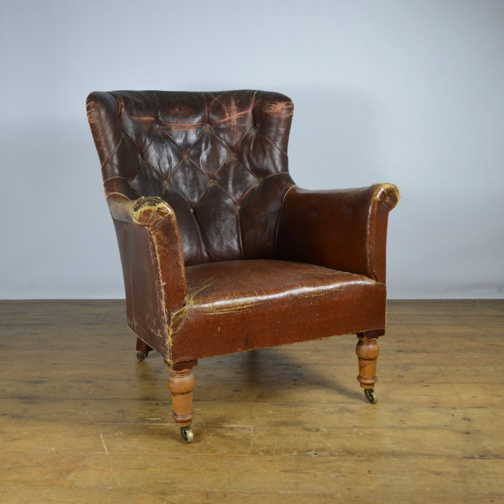 19th Century Library Chair Reupholstery Included C269