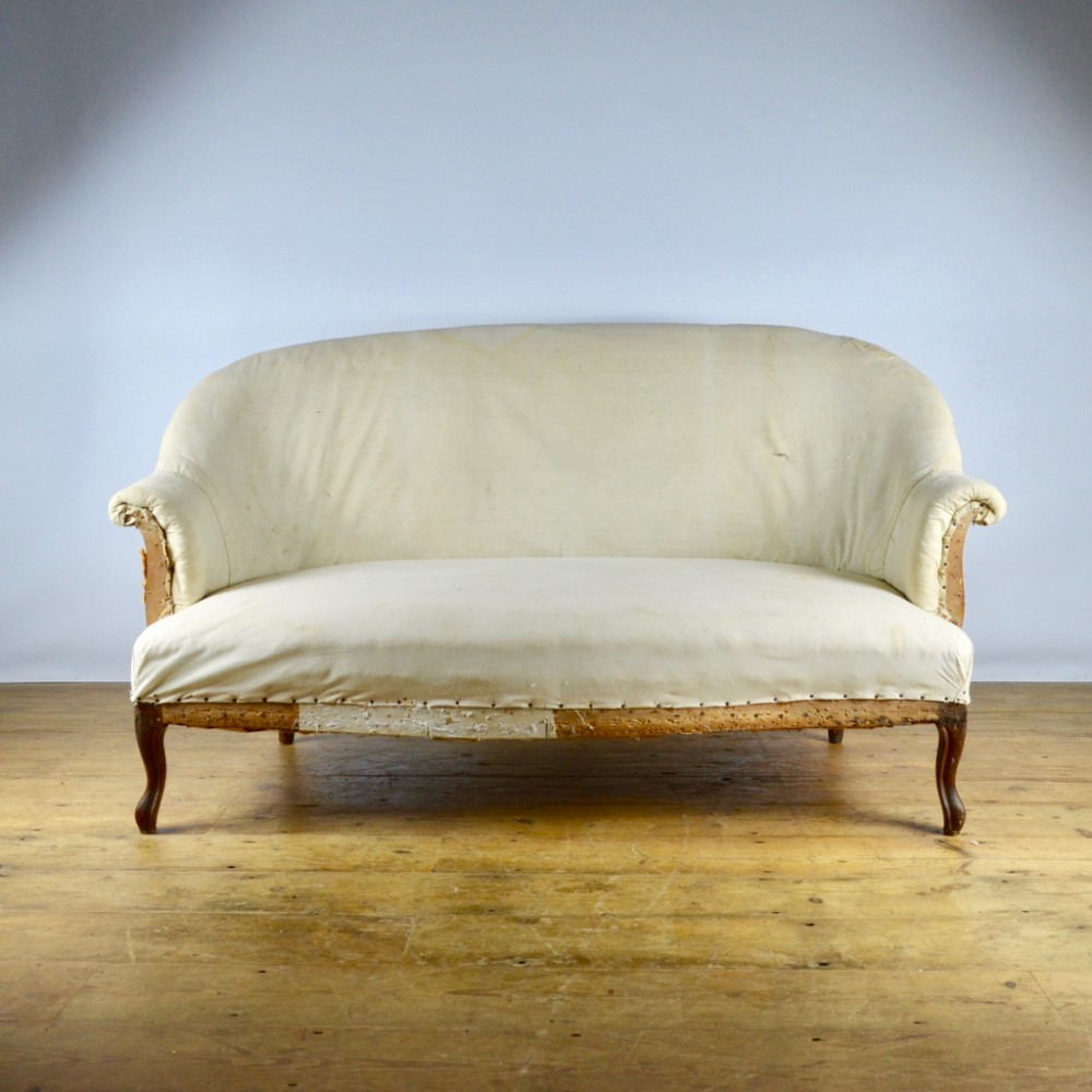 19th century french canape reupholstery included c233 for What does canape mean in french