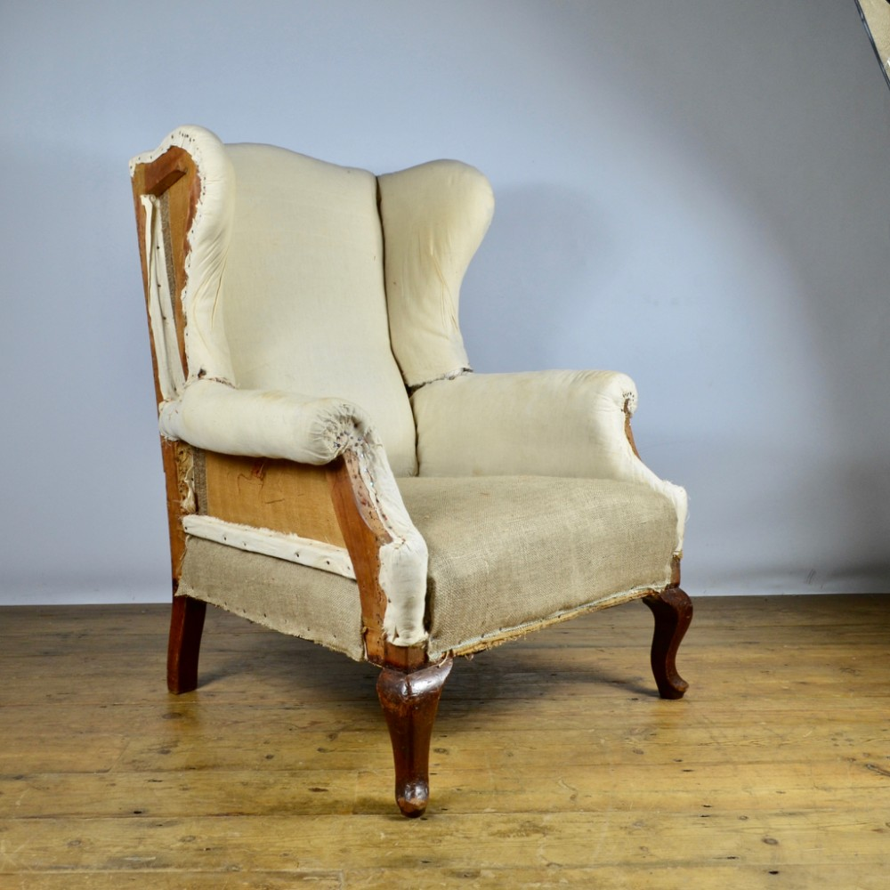 English Wing Chair Reupholstery Included C237