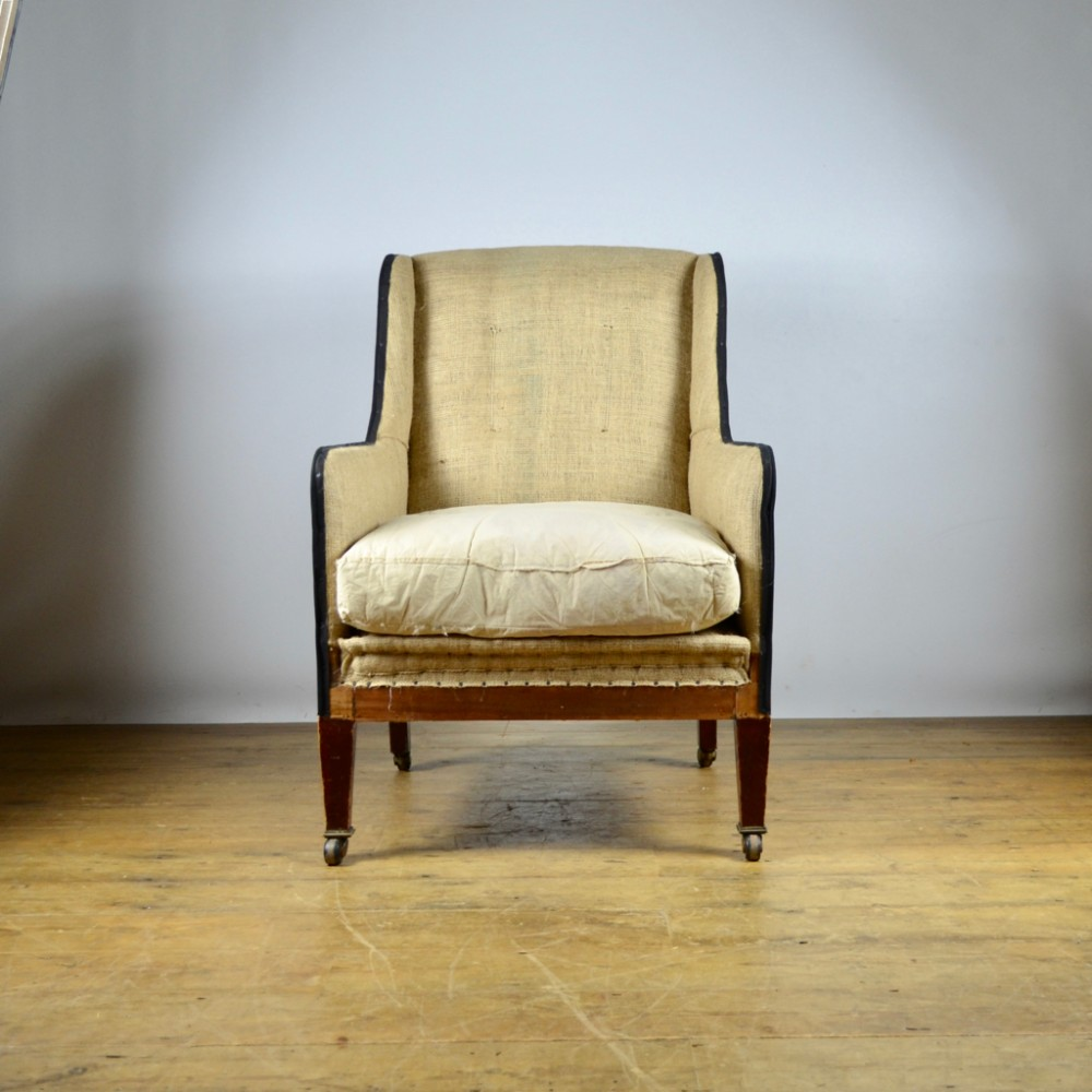 Antique Sofa Reupholstery Cost: English Library Chair - Reupholstery Inc. - C295