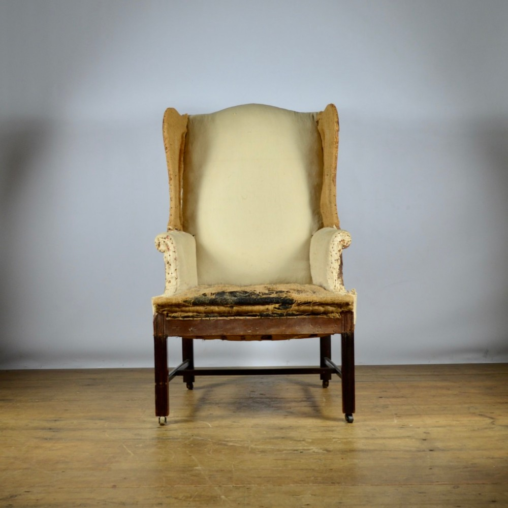 english wing chair reupholstery included