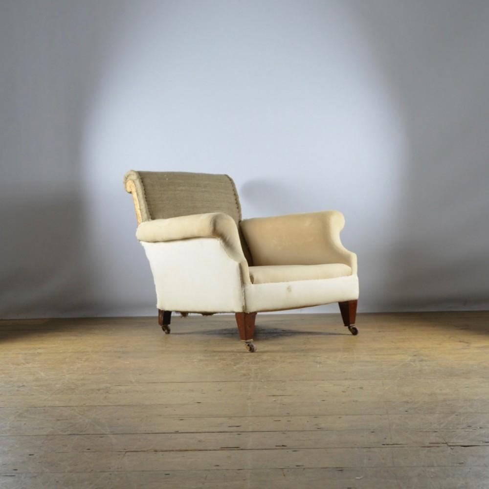 deep seated edwardian armchair full reupholstery inc