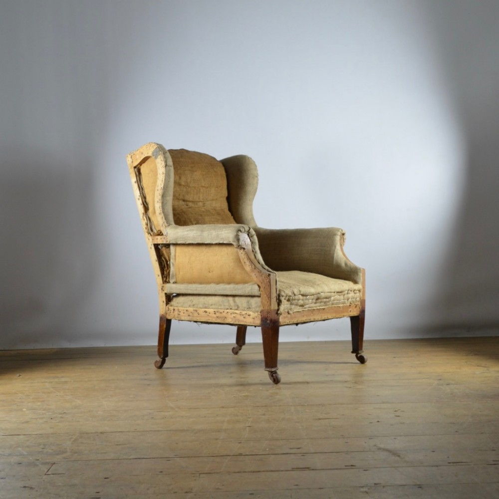 english winged armchair full reupholstery inc