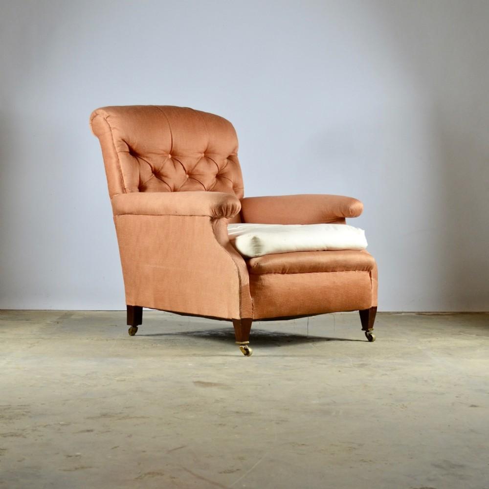edwardian english arm chair full reupholstery inc