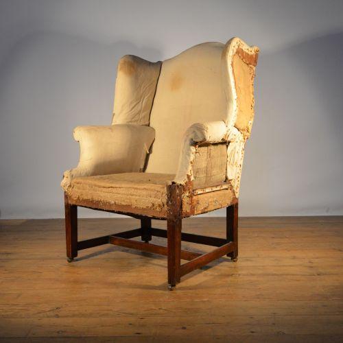 English Georgian Wing Chair Inc Full Reupholstery