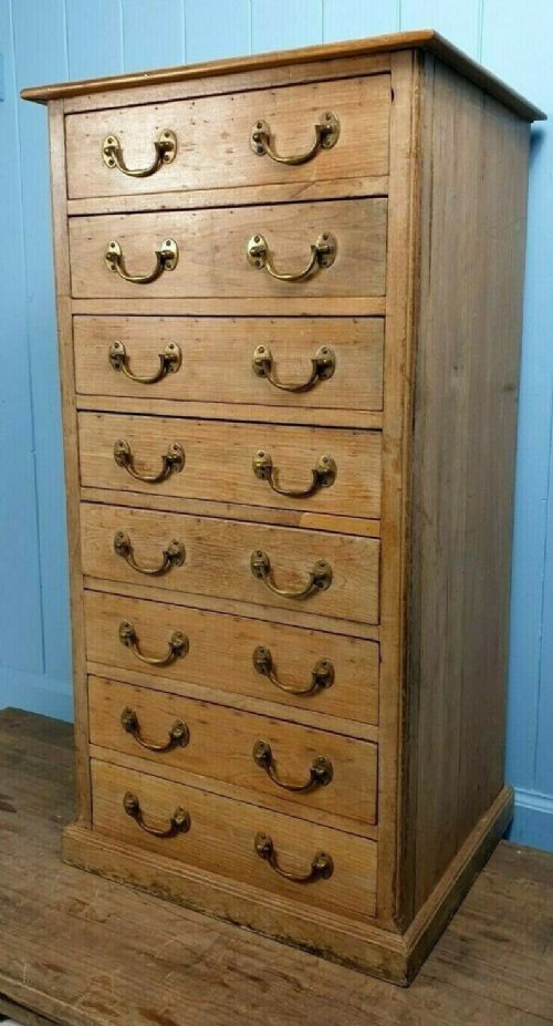 antique tallboy chest of drawers circa 1850 printer's bank of drawers made in scotland