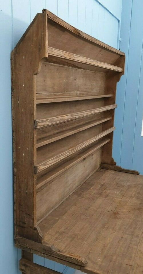 rare antique galleon ship's galley shelves georgian