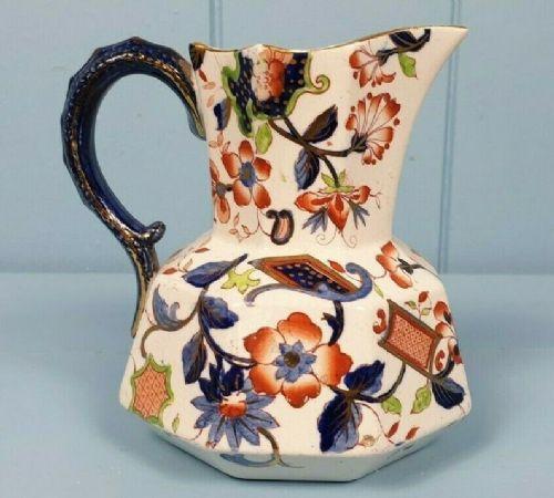 antique georgian ironstone ceramic jug with snake handle c 1820s