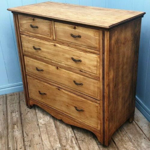 victorian bank of drawers in oak and pine original handles