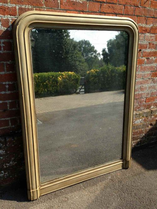 a fabulous highly useful antique 19th century french large carved wood gesso louis phillippe overmantal mirror